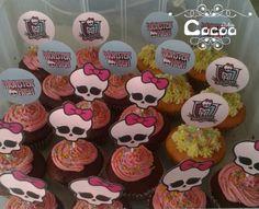 Cupcakes de Sabores Surtidos. Moster High Toppers