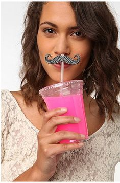 Mustache Bash straws- HILARIOUS for a fun party with our friends. Mustache Party, Baby Shower, Make Me Smile, Party Planning, Party Time, Urban Outfitters, Pink, My Favorite Things, Movember