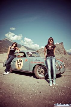 Porsche 356 and girls #porsche #cargirl