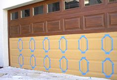 How to: Garage Door Faux Wood Grained | Everything I Create - Paint Garage Doors To Look Like Wood