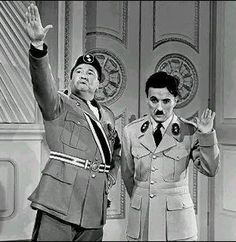 A scene from 'The Great Dictator', 1940, in which Charlie Chaplin portrayed a Hitler-like character (Loni Love)