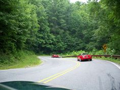 Tail of the Dragon, Deals Gap, NC in the Smoky Mountains. We go every year..sometimes twice.
