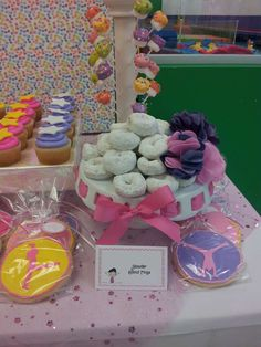 """""""Landing pillows, powder donut rings, and uneven pretzel bars!""""   gymnastics Birthday Party Ideas 
