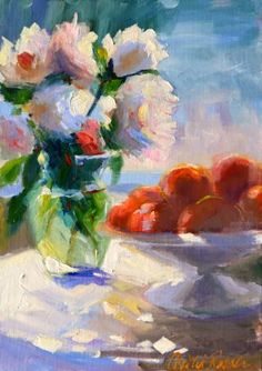 "Saatchi Art Artist CECILIA ROSSLEE; Painting, ""WHITE ROSES"" #art"