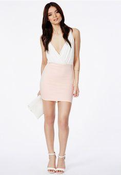 Taneka Contrast Mini Dress - Dresses - Mini Dresses - Missguided