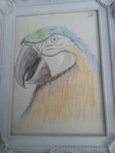 Papegaai gemaakt----niet zoo heeel moeilijk