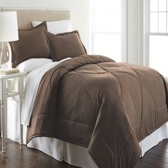 Shop for Micro Flannel Solid Color 3-piece Comforter Set. Get free shipping at Overstock.com - Your Online Fashion Bedding Outlet Store! Get 5% in rewards with Club O!