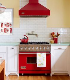 """Judy Nazemetz and Mike Colasuonno spent two decades in their 1930s Valley Village, California, home before tackling any renovations. """"The kitchen was charming but tiny—it made cooking for guests difficult, but I just couldn't imagine disrupting our lives to renovate it,"""" says Judy. After admiring a friend's kitchen, Judy got the name of the designer, Thea Segal, and gave her a call. The two enlarged the space by combining it with the formal dining room and updated it with fresh takes on…"""