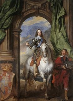 Charles I with M. de St Antoine, a Flemish oil painting on canvas by Anthony van Dyck which depicts Charles I of England on horseback Anthony Van Dyck, Sir Anthony, Cebu, King Charles, Anton Van, Google Art Project, Royal Academy Of Arts, Shops, Portraits
