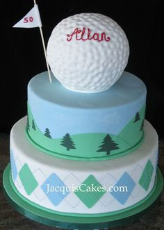 golf cake Golf Ball Cake, Golf Cupcakes, Tropical Cupcakes, Birthday Cakes For Men, 80th Birthday, Wedding Cake Inspiration, Occasion Cakes, Buttercream Cake, Love Cake
