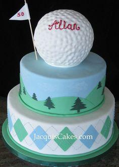 golf cake 70th Birthday Cake For Men, Golf Ball Cake, Marshmallow Cake, Cupcake Cookies, Golf Cupcakes, Wedding Cake Inspiration, Occasion Cakes, Buttercream Cake, Love Cake
