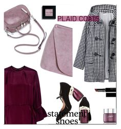 """""""statement + plaid"""" by iraavalon ❤ liked on Polyvore featuring McQ by Alexander McQueen, Dries Van Noten, Space NK, Bobbi Brown Cosmetics and Witchery"""