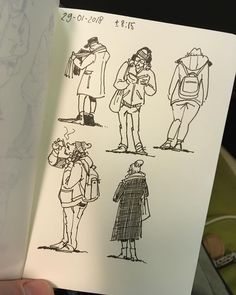 """78 Likes, 2 Comments - The Heart of Jeremy Hoffman (@theheartofjeremyhoffman) on Instagram: """"Morning sketches: """"drawing from life""""... at the train station... ✏️ #drawing #marker…"""""""