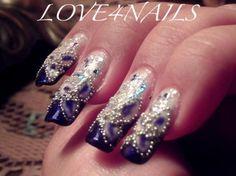 Blue Bead Nails by LOVE4NAILS - Nail Art Gallery nailartgallery.nailsmag.com by Nails Magazine www.nailsmag.com #nailart