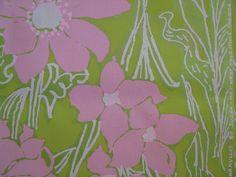 "Vintage Lilly Pulitzer floral print ""Amaryllis"" by Zuzek - Key West Hand Print Fabrics, Inc."