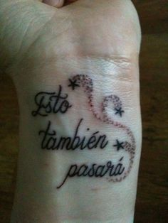 "New tattoo. ""This too shall pass"""