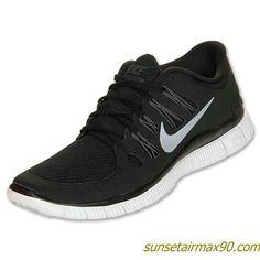 half off 7d209 6111e Nike Free 50 Womens Black Dark Grey White Metallic Silver 580591 002