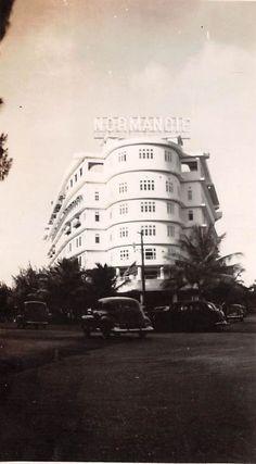 SAN JUAN PUERTO RICO THE NORMANDIE HOTEL SNAPSHOT PHOTO c1945 TAKEN BY US MARINE