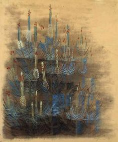 Morris Graves - Young Pine Forest in Bloom 1947 Phillips Collection Ink In Water, Colorful Paintings, Modern Artists, Figure Painting, Abstract Expressionism, Abstract Art, American Artists, Cool Artwork, Amazing Art