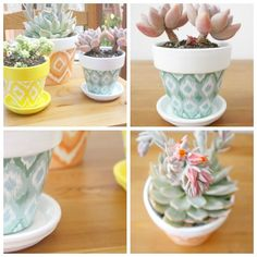Hand painted pots DIY