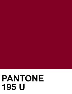PANTONE 195 U Color Swatch | The House of Beccaria~