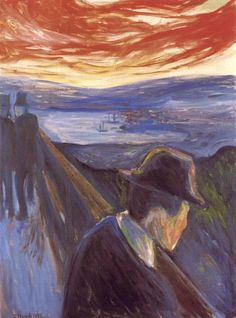 Despair, 1892 by Edvard Munch, European period. Expressionism. genre painting. The Munch Museum
