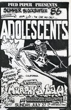 Adolescents, Murphy's Law and Feeding Frenzy at Lupo's Providence, RI July 27, 1986