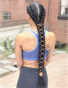 Top 60 All the Rage Looks with Long Box Braids - Hairstyles Trends Box Braids Hairstyles, Girl Hairstyles, Hairstyles Videos, Braid Hairstyles With Weave, French Hairstyles, Hairstyles Pictures, Hairstyles 2016, Pretty Hairstyles, Straight Hairstyles