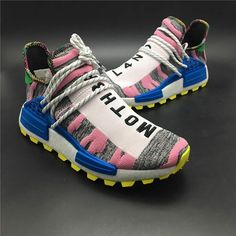 f0fe3e1da08a Pharrell Williams x adidas Originals Hu NMD Trail SOLARHU White Pink Mens  Womens Shoes