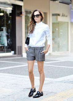Black & white feat. Céline sunglasses on Style Hunter