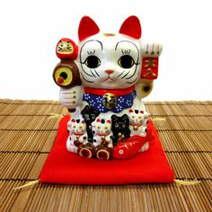 Lucky Cat Family, Maneki, Japanese Cat