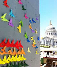 #SFPride #SFPride 2013 #Pride #origami #rainbows #theupsideup  Read here for the background: http://asianartmuseum.tumblr.com/post/54358407040/pride-flies-on-our-front-steps-sf-pride-was-this