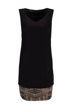 Dress With Jacquard Inserts At The Bottom