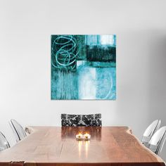 """East Urban Home A Wintry Day II.A Painting Print on Wrapped Canvas Size: 12"""" H x 12"""" W x 0.75"""" D"""