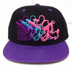 2cf01bdc6935c New DISNEY GOOFY SNAPBACK HAT Black Purple Neon-Pink Flat-Bill  Women Men Teen  Disney  BaseballCap