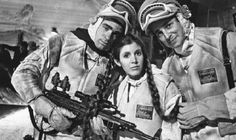 Leia Organa and resistance fighters
