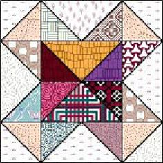 "Free Quilt Block Patterns, M through S: Not So Much of a Trick Quilt Block - 12"" Blocks"