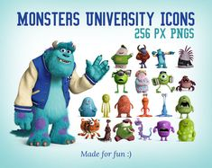 Monsters University Icons 256 PNGs