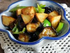 Another possibility for the eggplant dish - Stir Fry Eggplant with Potato and Green Pepper