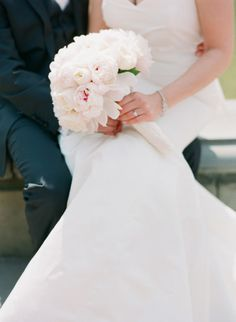Pink peonies: http://www.stylemepretty.com/new-york-weddings/new-york-city/2015/07/27/classical-new-york-city-wedding-at-studio-450/ | Photography: Caroline Yoon - http://www.carolineyoonphotography.com/
