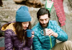 Lovers camping. (Linked to Northern Sun, Canadian outerwear brand)