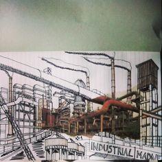 Industrial Madness #1 proceso de realización. #drawing #patrimonioindustrial #sketch #pencildrawing #disfrutadelavida #industrialheritage #industriekultur #bocetos #artwork #arte #art #patrimonioindustrial #mislocurasindustriales #industrialmadness