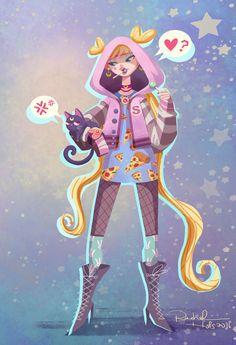 (Sailor Moon) Luna and Serena Tsukino