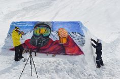 Graffiti sobre nieve #mural #graffiti #streetart #kode #alanzarate #graffitisobrenieve