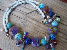 OOAK Lampwork Silver and Pearl Cluster by gristmilldesigns on Etsy, $22.95