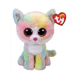 TY Beanie Boo Small Fluffy the Cat Plush Toy,