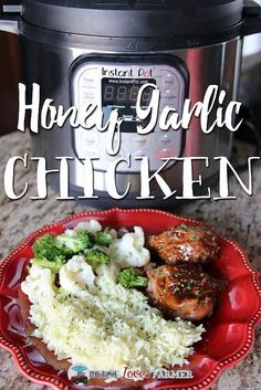 Instant Pot Honey Garlic Chicken. Cook delicious fall-off-the-bone honey garlic chicken in your #InstantPot! Even cook from frozen in less than an hour!