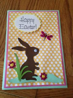 Easter Card by scrappinbjs. Explore more products on http://scrappinbjs.etsy.com