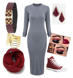 """""""Grey collection"""" by im-love-with-the-cocoa-channel on Polyvore featuring Kendra Scott, Keds, Converse, New Directions and grey"""