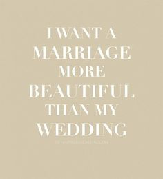 My motto once engaged... It's all about the marriage!